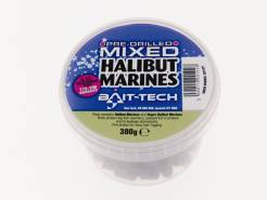 Bait - Tech pelety Pre-Drilled Halibut Marine Hookers mixed 300g