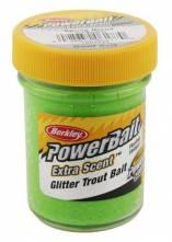 Těsto na pstruhy Berkley jarní zelená glitter 50gr
