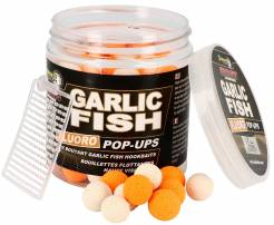 Starbaits plovoucí boilies Fluo Garlic Fish 14mm 80g