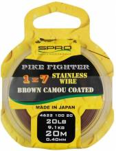 Spro lanko na dravce 1x7 Brown Coated Wire 0,40mm 20met